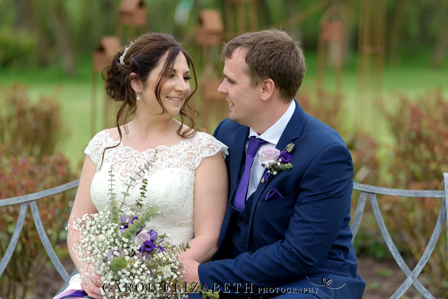 Purple styling and an elegant rustic theme for Fiona and Ashley's Stratton Court Barn Oxfordshire wedding. Images by Carol Elizabeth Photography on English-Wedding.com (23)