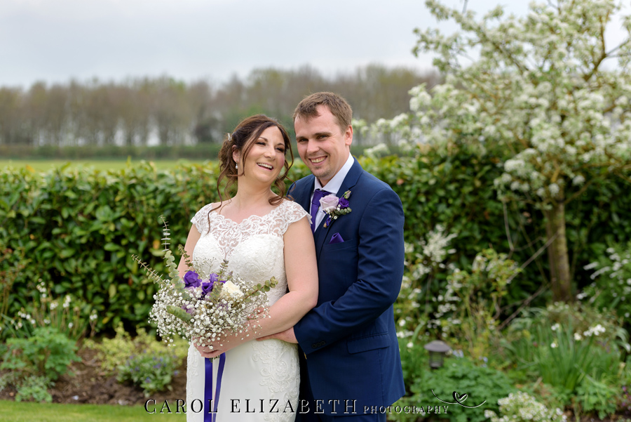Purple styling and an elegant rustic theme for Fiona and Ashley's Stratton Court Barn Oxfordshire wedding. Images by Carol Elizabeth Photography on English-Wedding.com (24)