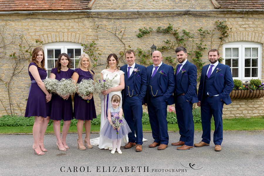 Purple styling and an elegant rustic theme for Fiona and Ashley's Stratton Court Barn Oxfordshire wedding. Images by Carol Elizabeth Photography on English-Wedding.com (27)