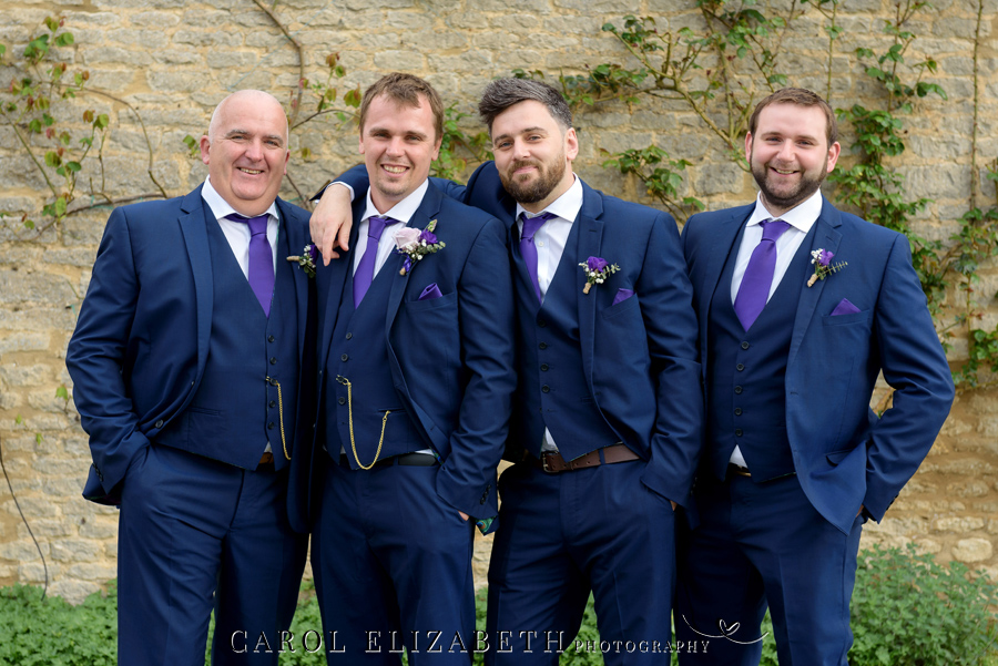 Purple styling and an elegant rustic theme for Fiona and Ashley's Stratton Court Barn Oxfordshire wedding. Images by Carol Elizabeth Photography on English-Wedding.com (29)