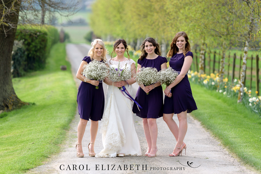 Purple styling and an elegant rustic theme for Fiona and Ashley's Stratton Court Barn Oxfordshire wedding. Images by Carol Elizabeth Photography on English-Wedding.com (31)