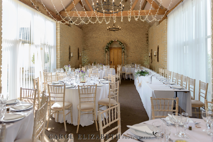 Purple styling and an elegant rustic theme for Fiona and Ashley's Stratton Court Barn Oxfordshire wedding. Images by Carol Elizabeth Photography on English-Wedding.com (35)