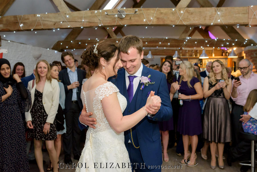 Purple styling and an elegant rustic theme for Fiona and Ashley's Stratton Court Barn Oxfordshire wedding. Images by Carol Elizabeth Photography on English-Wedding.com (41)