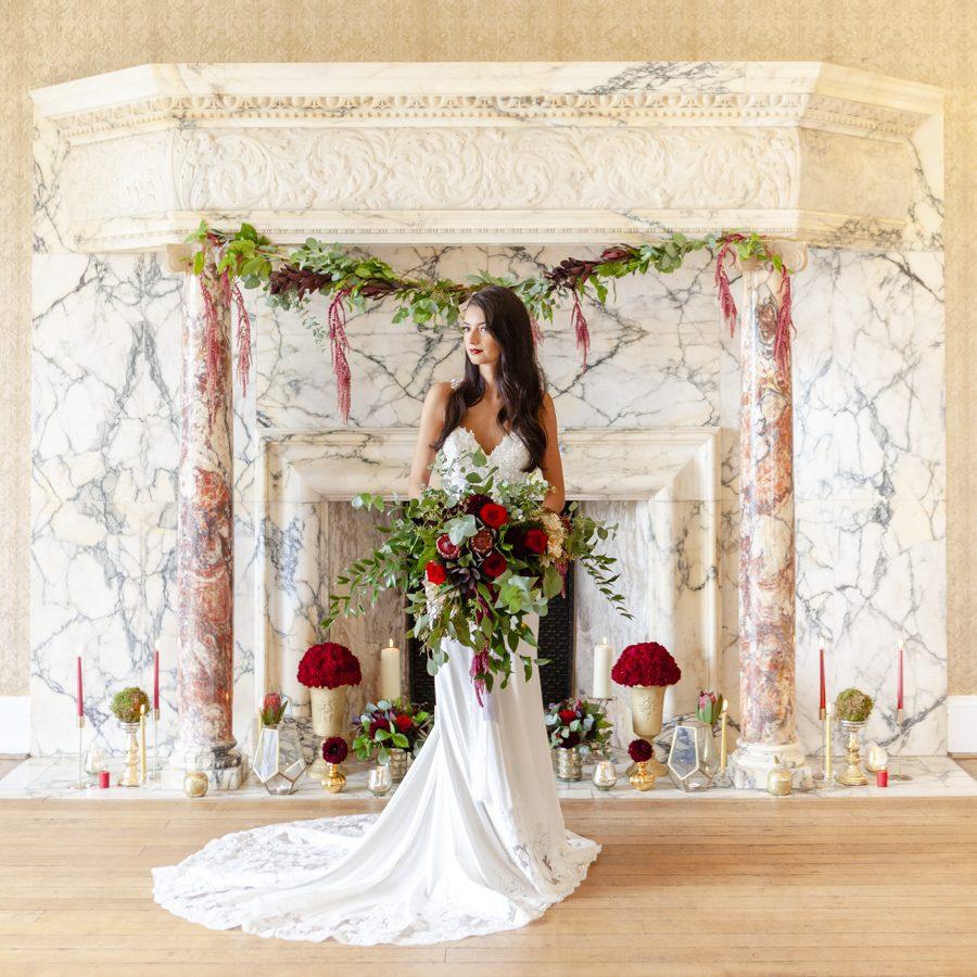 Old Hollywood glamour wedding style at Balcombe Place, photographer Fiona Mills Art on English-Wedding.com (4)
