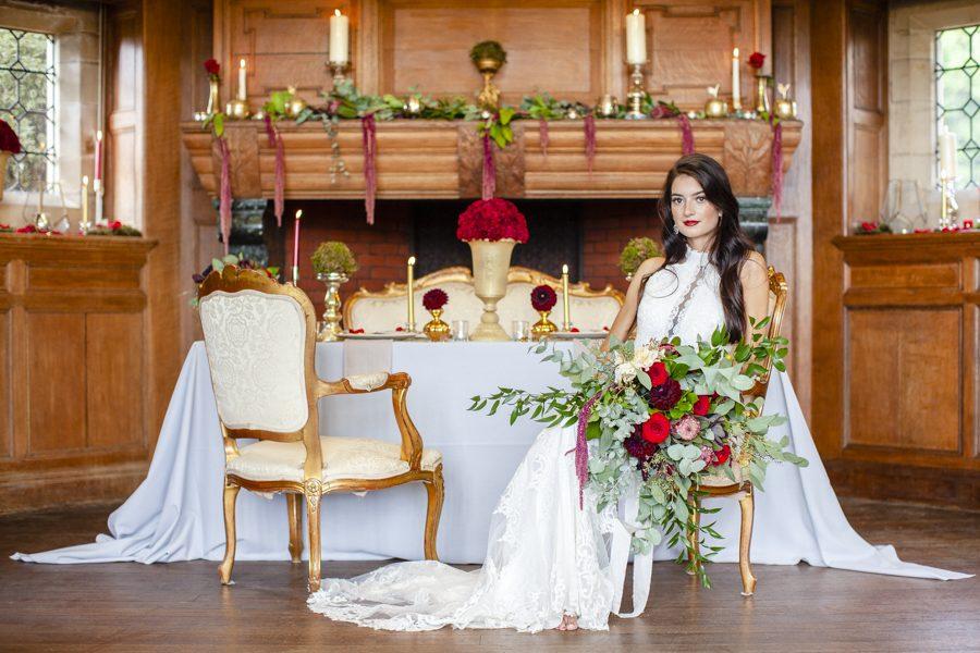 Old Hollywood glamour wedding style at Balcombe Place, photographer Fiona Mills Art on English-Wedding.com (16)