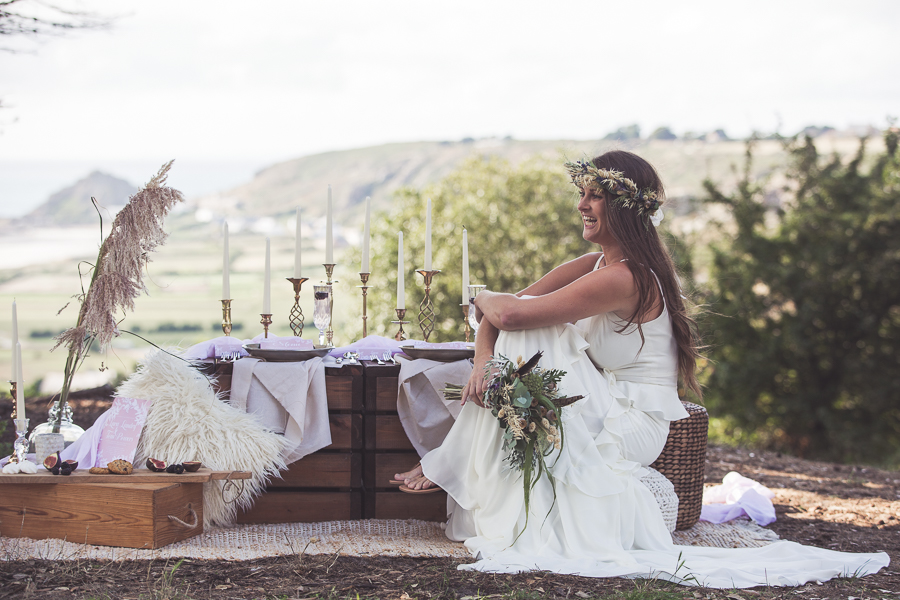 Beach boho wedding styling ideas from the UK, image credit Katie Mortimore (12)