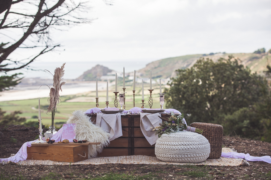 Beach boho wedding styling ideas from the UK, image credit Katie Mortimore (2)