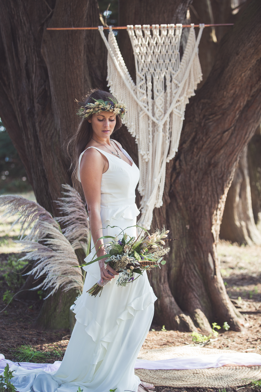 Beach boho wedding styling ideas from the UK, image credit Katie Mortimore (17)