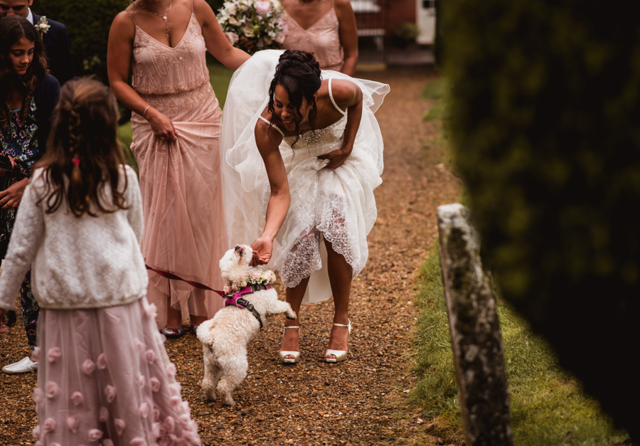 Pink flower wedding ideas and cute wedding dogs on English-Wedding.com with Robin Goodlad Photography (21)