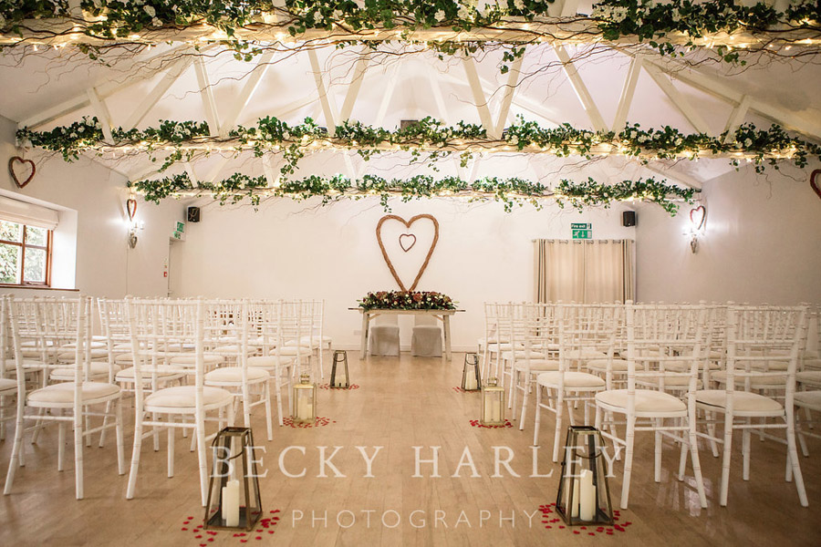 A massive ball of mistletoe for a beautifully styled, elegant winter wedding. Images by Becky Harley Photography (26)