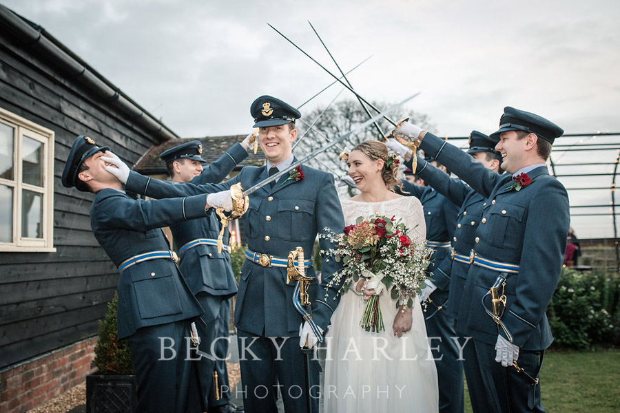 A massive ball of mistletoe for a beautifully styled, elegant winter wedding. Images by Becky Harley Photography (45)