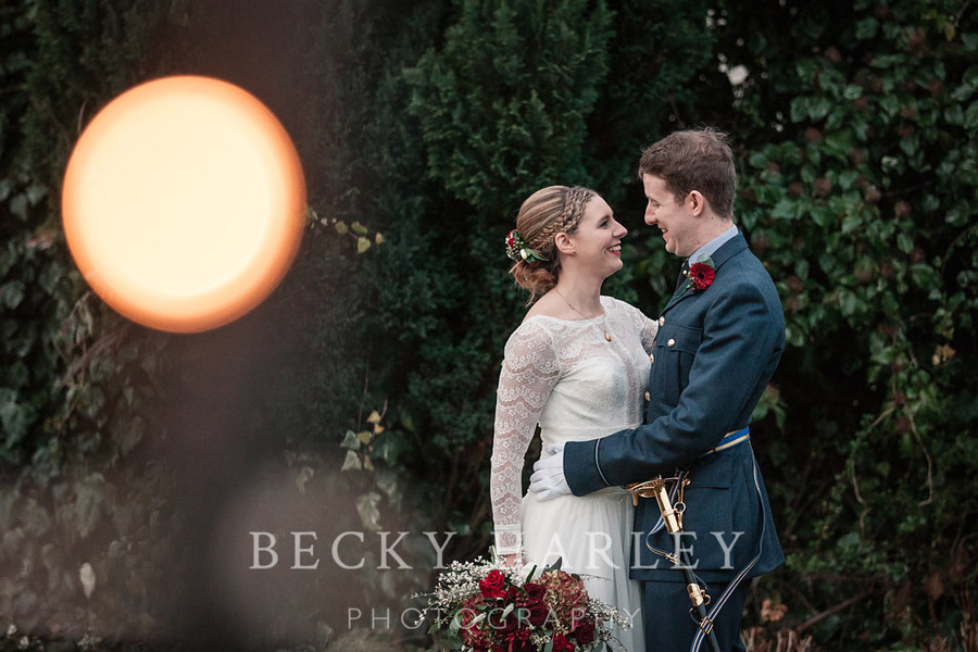 A massive ball of mistletoe for a beautifully styled, elegant winter wedding. Images by Becky Harley Photography (16)