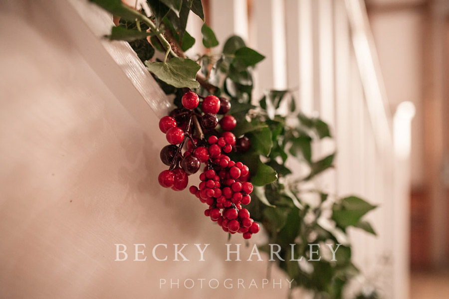 A massive ball of mistletoe for a beautifully styled, elegant winter wedding. Images by Becky Harley Photography (3)