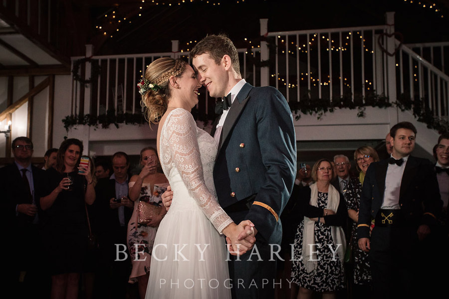 A massive ball of mistletoe for a beautifully styled, elegant winter wedding. Images by Becky Harley Photography (20)