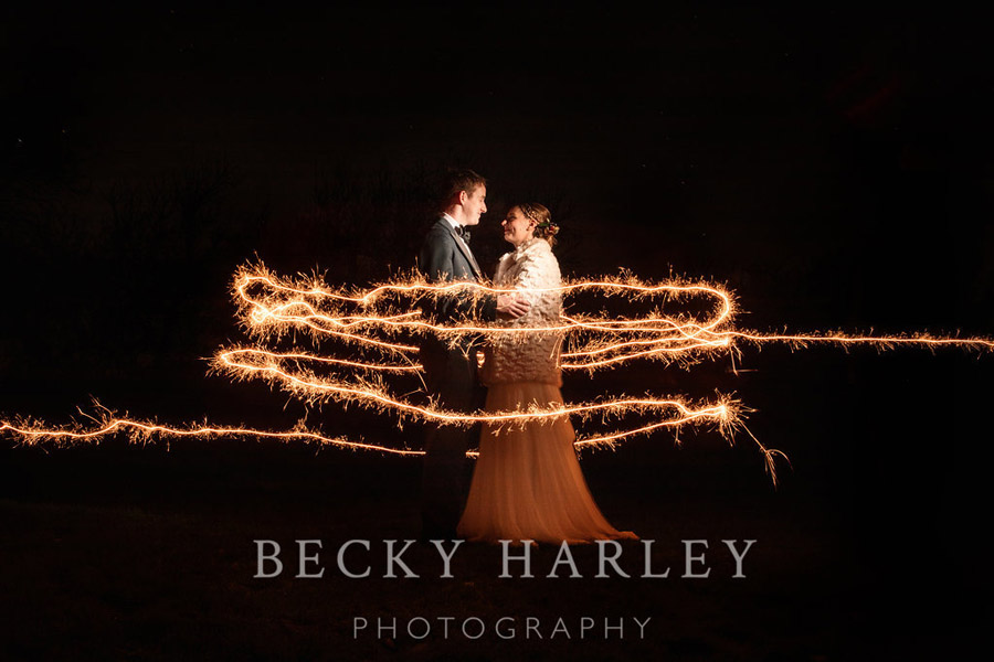 A massive ball of mistletoe for a beautifully styled, elegant winter wedding. Images by Becky Harley Photography (40)