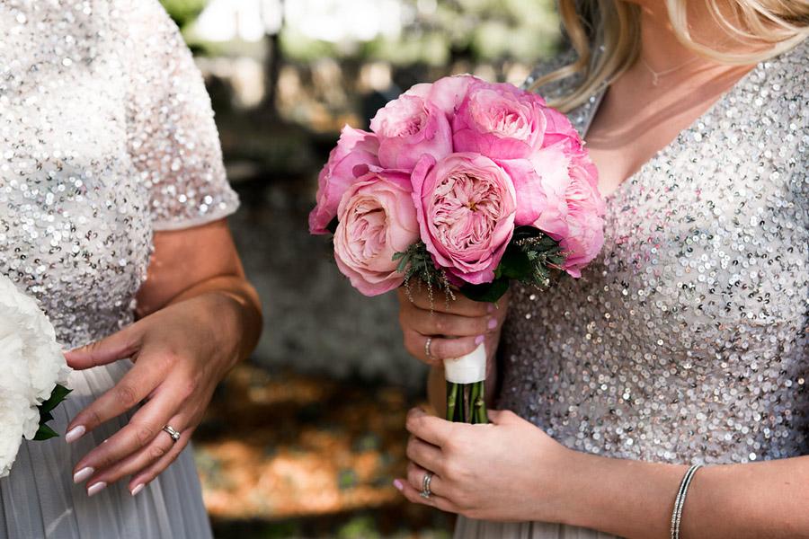 Fabulously feminine sparkly wedding styling from Rectory Farm on English Wedding - credit Nicola Norton Photography (13)