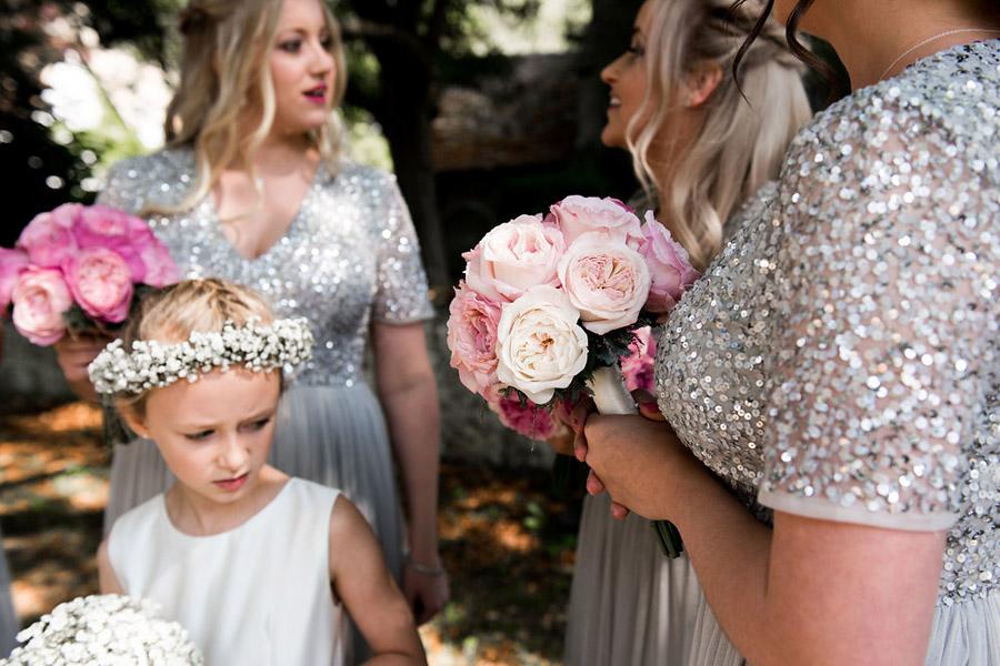 Fabulously feminine sparkly wedding styling from Rectory Farm on English Wedding - credit Nicola Norton Photography (14)