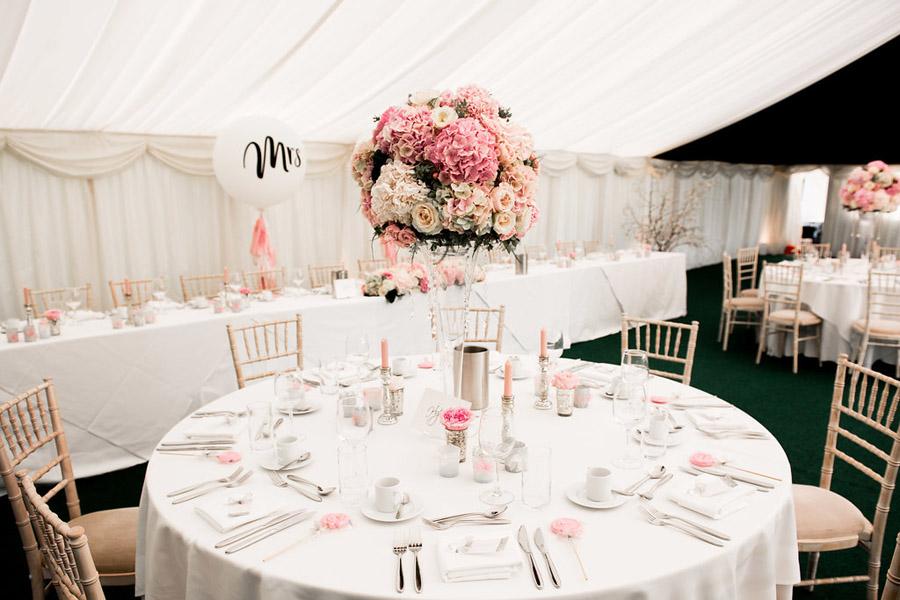 Fabulously feminine sparkly wedding styling from Rectory Farm on English Wedding - credit Nicola Norton Photography (25)