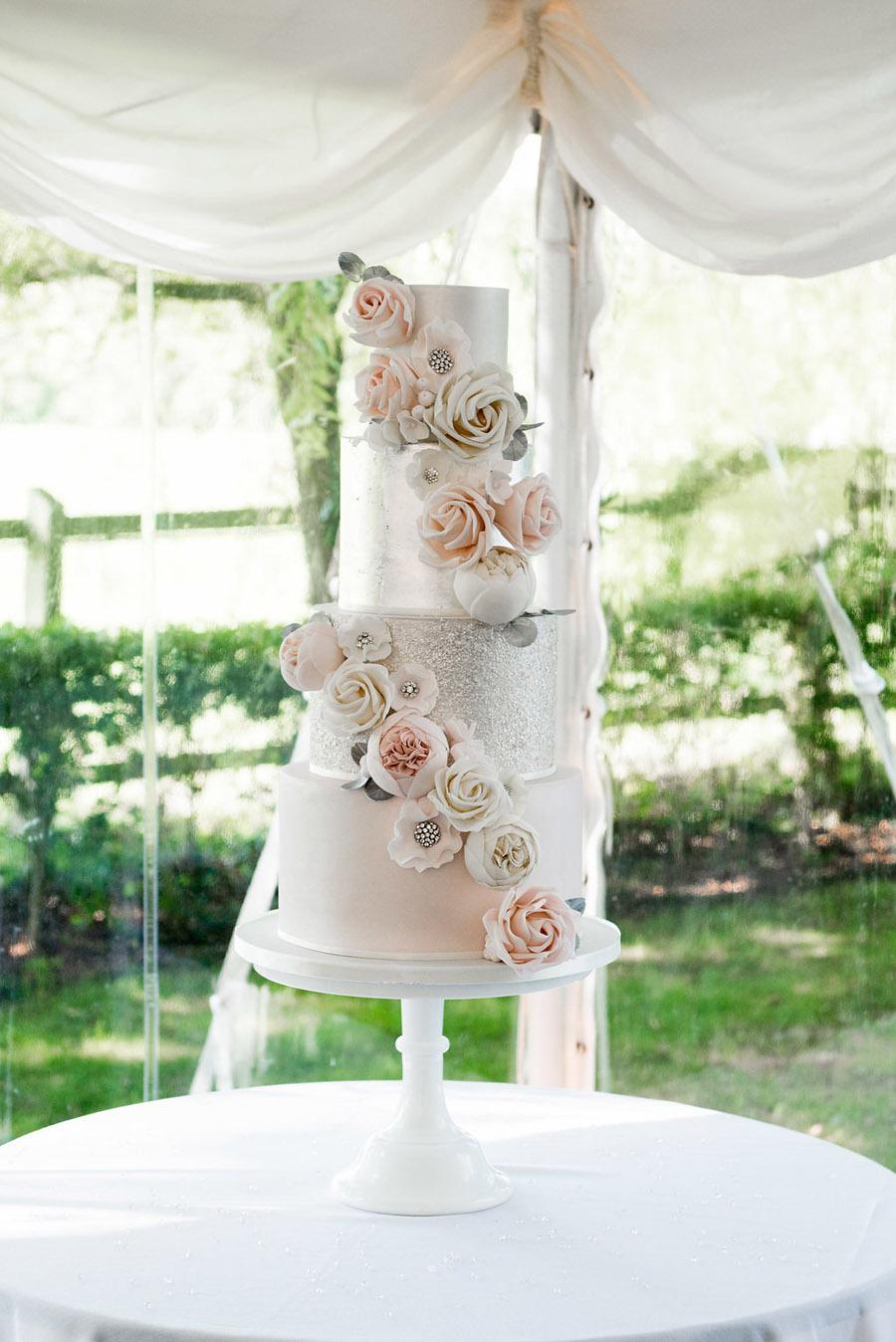 Fabulously feminine sparkly wedding styling from Rectory Farm on English Wedding - credit Nicola Norton Photography (27)