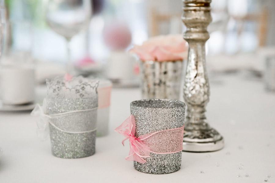Fabulously feminine sparkly wedding styling from Rectory Farm on English Wedding - credit Nicola Norton Photography (29)