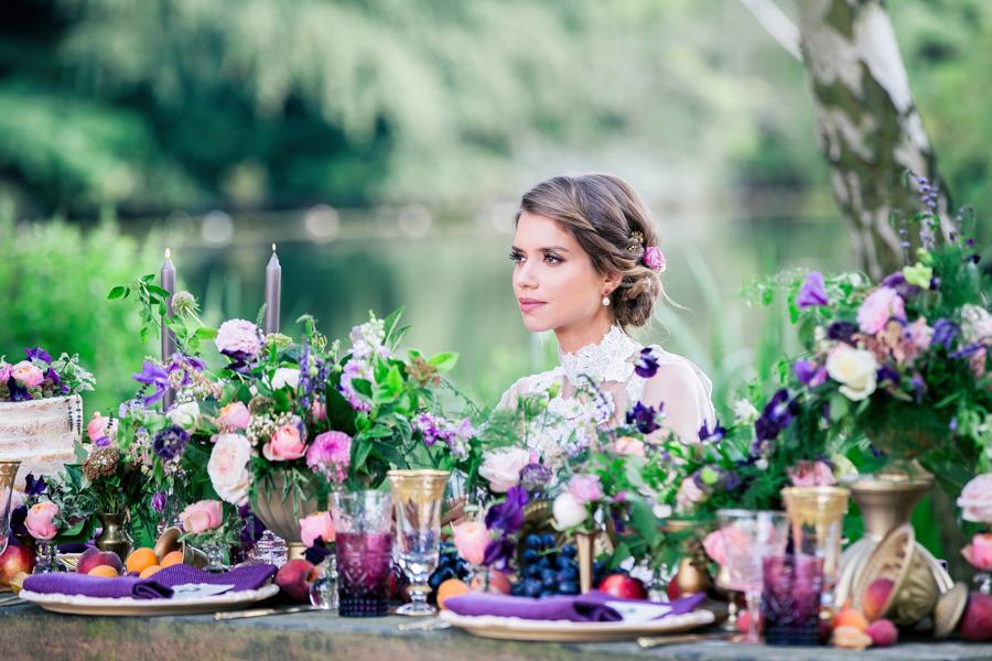 Stunning florals and archway flower surround for a breathtaking wedding style article on English Wedding, image credit Lisa Payne Photography (33)