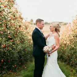 Jessie and Brady's apple orchard wedding with Charlene Webb Photography