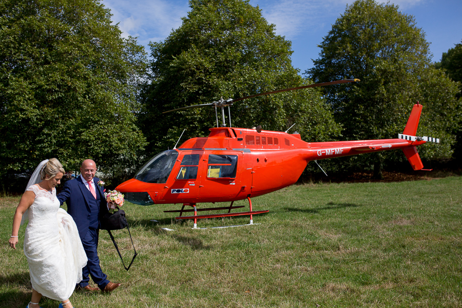 A helicopter treat for Laura & Matt's Upcote Barn wedding with Martin Dabek Photography (1)