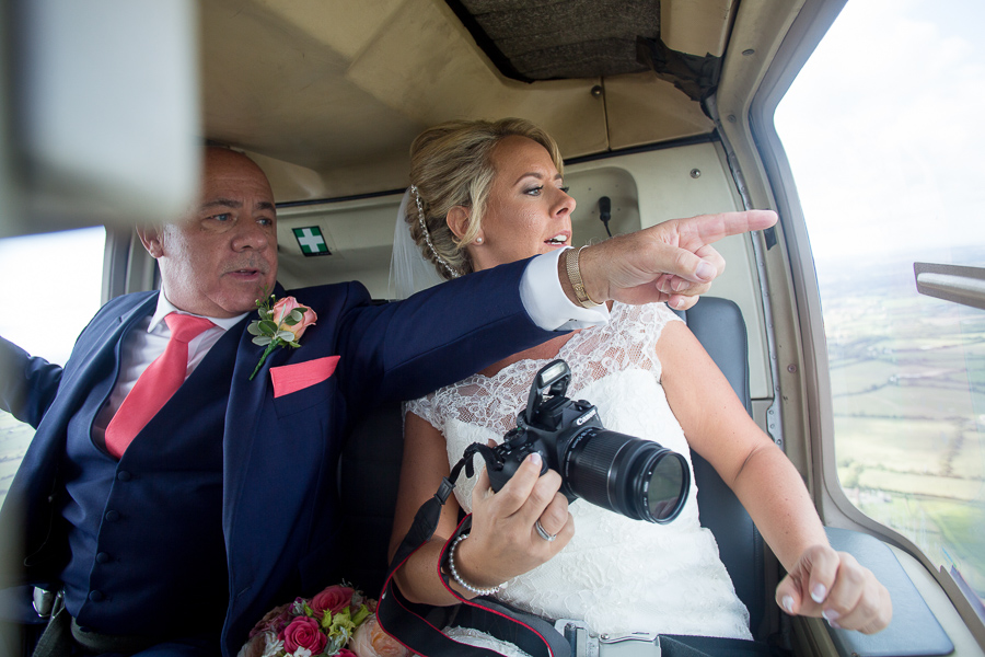 A helicopter treat for Laura & Matt's Upcote Barn wedding with Martin Dabek Photography (3)