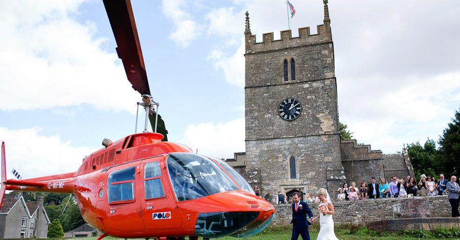 A helicopter treat for Laura & Matt's Upcote Barn wedding with Martin Dabek Photography (7)
