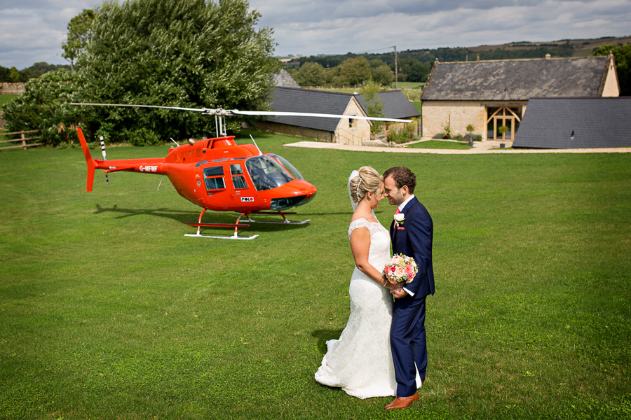 A helicopter treat for Laura & Matt's Upcote Barn wedding with Martin Dabek Photography (9)