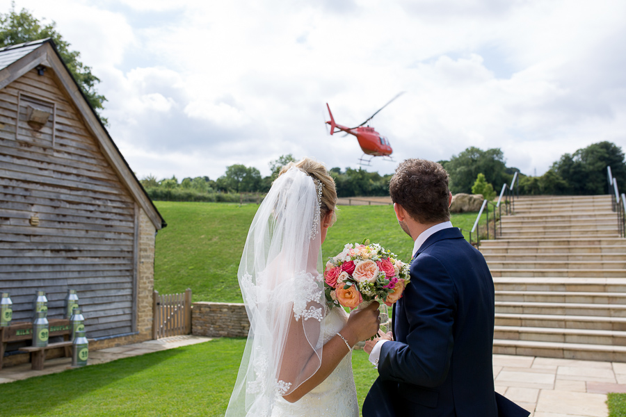 A helicopter treat for Laura & Matt's Upcote Barn wedding with Martin Dabek Photography (10)