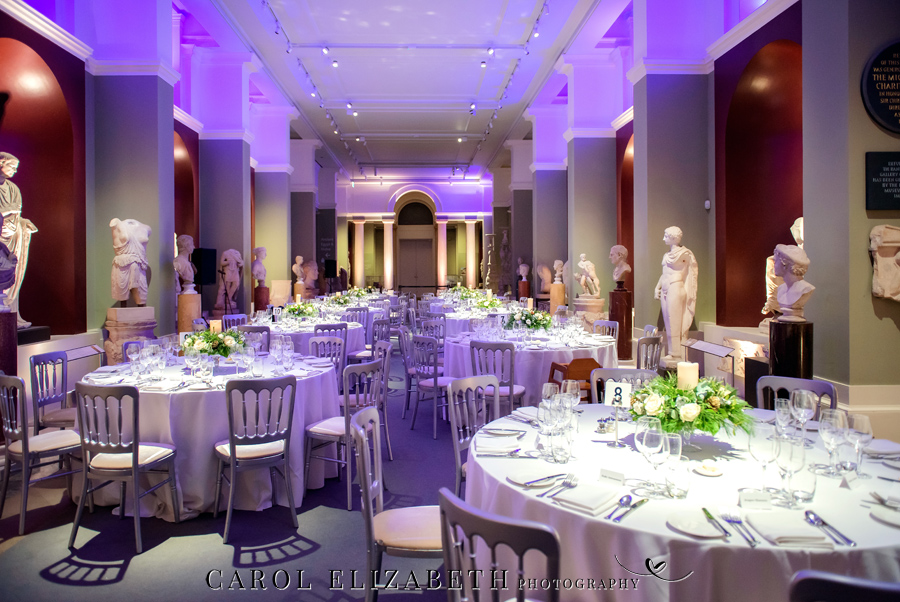 See the Ashmolean museum transformed for a unique wedding celebration with images by Carol Elizabeth Photography (28)