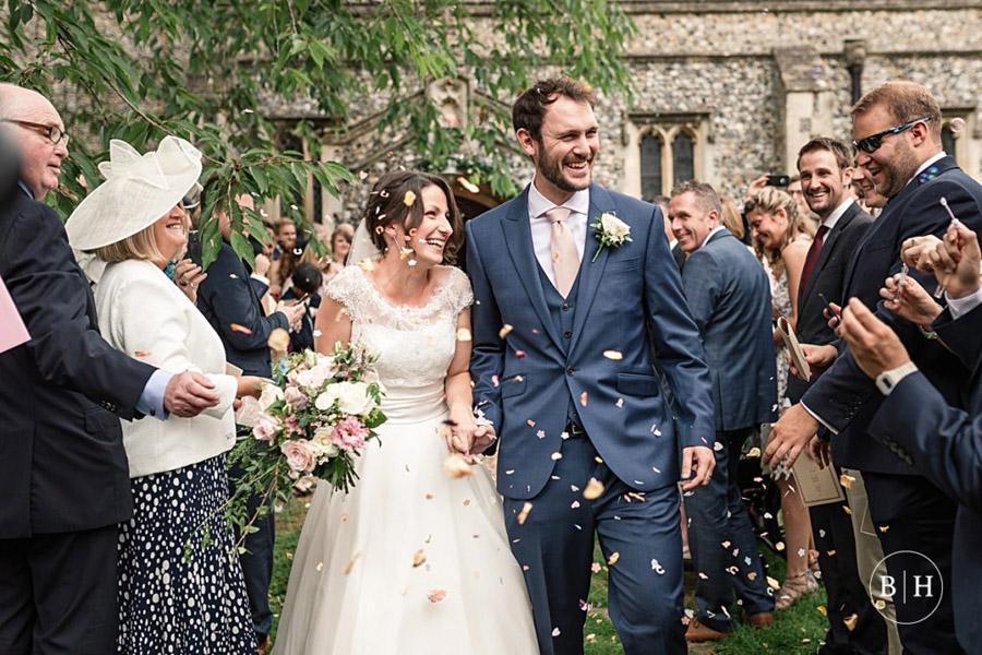 confetti shots by Hertfordshire wedding photographer Becky Harley (1)