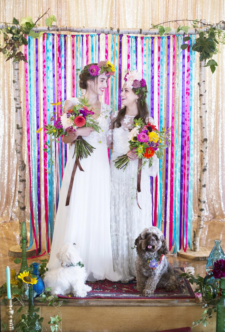 Same sex wedding styling boho chic festival inspiration - image credit Emma Hall Photography (6)