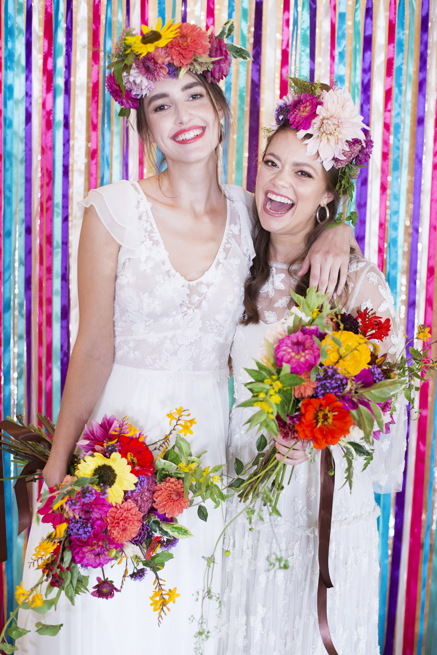 Same sex wedding styling boho chic festival inspiration - image credit Emma Hall Photography (8)
