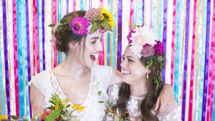 Same sex wedding styling boho chic festival inspiration - image credit Emma Hall Photography (9)