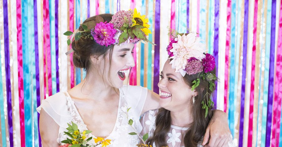 Same sex wedding styling boho chic festival inspiration - image credit Emma Hall Photography (9)