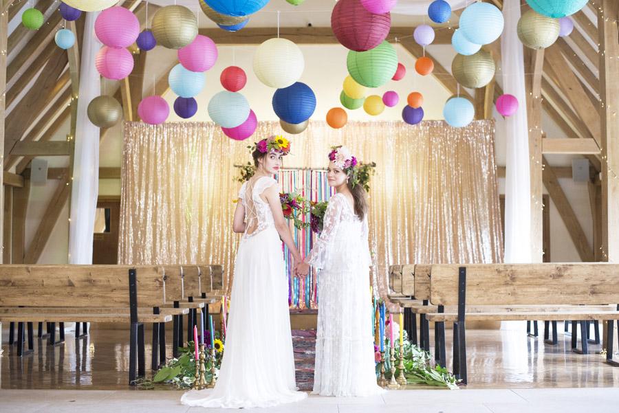 Same sex wedding styling boho chic festival inspiration - image credit Emma Hall Photography (10)