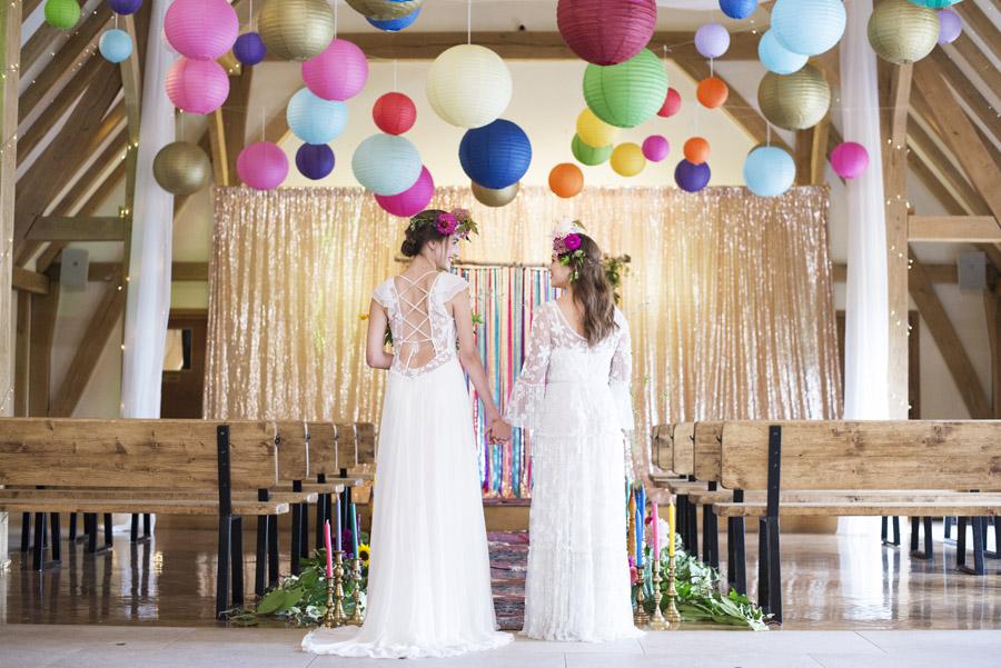 Same sex wedding styling boho chic festival inspiration - image credit Emma Hall Photography (11)