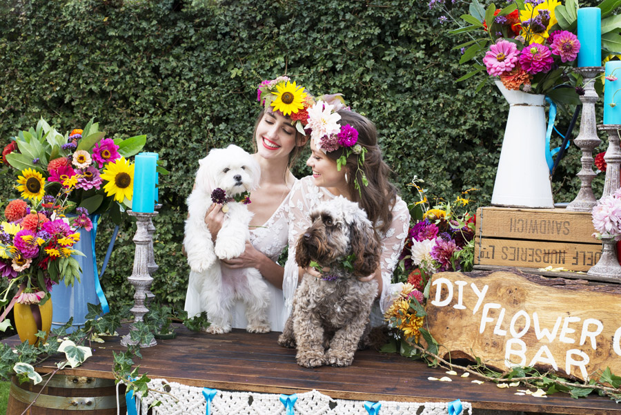 Same sex wedding styling boho chic festival inspiration - image credit Emma Hall Photography (18)