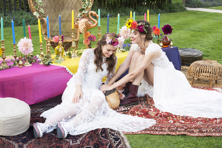Same sex wedding styling boho chic festival inspiration - image credit Emma Hall Photography (20)