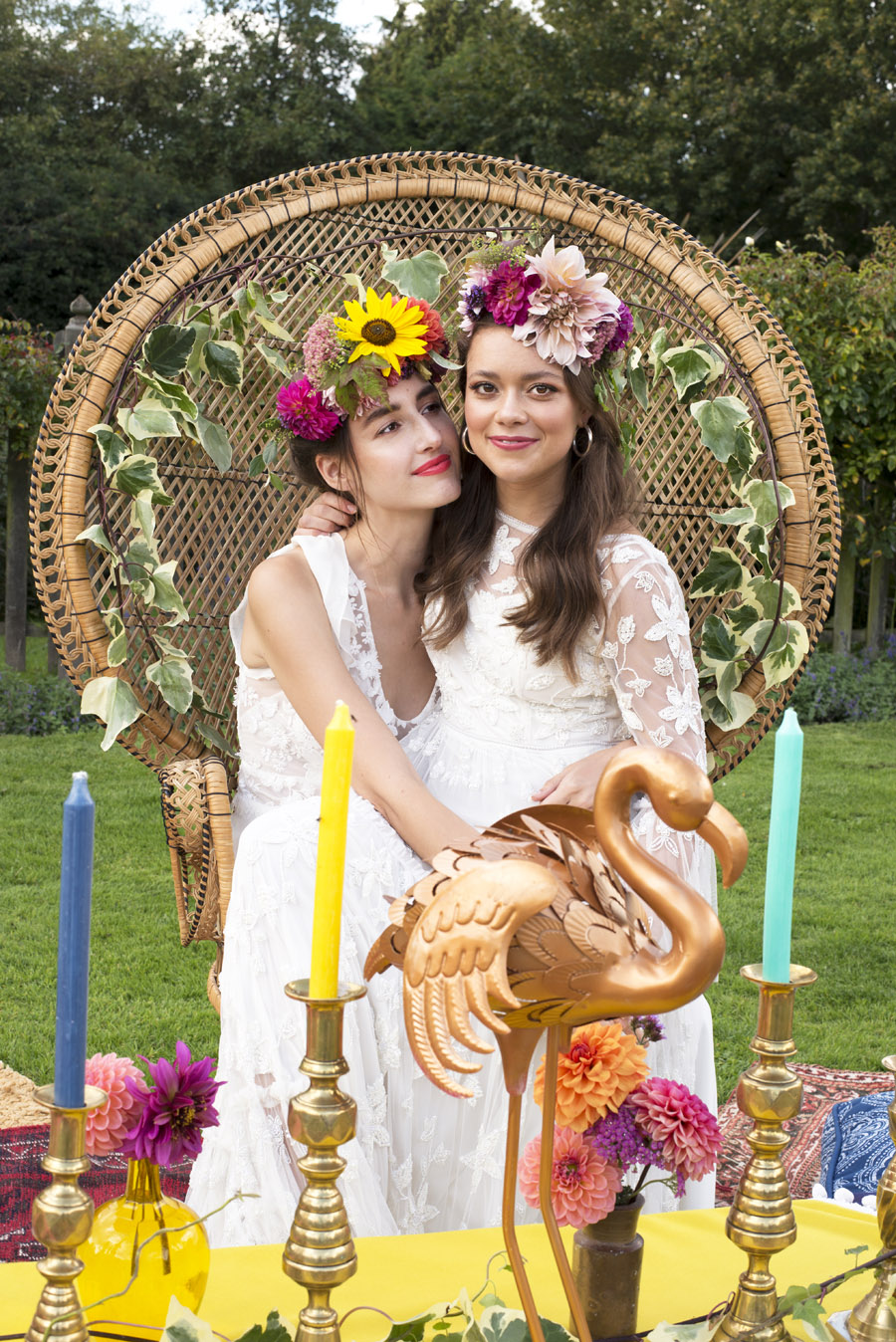 Same sex wedding styling boho chic festival inspiration - image credit Emma Hall Photography (21)