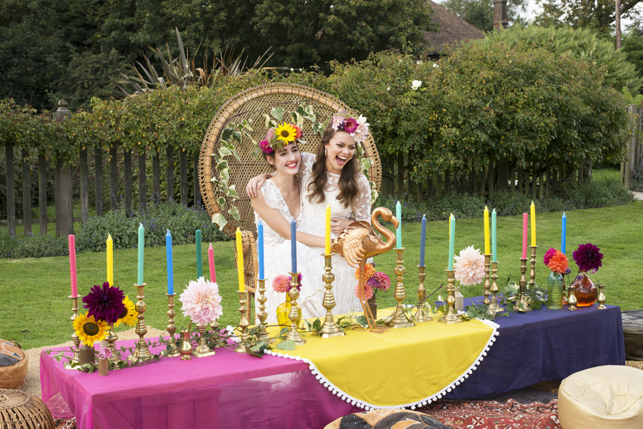 Same sex wedding styling boho chic festival inspiration - image credit Emma Hall Photography (22)