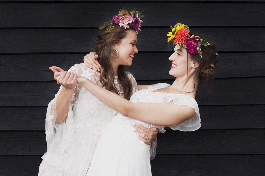 Same sex wedding styling boho chic festival inspiration - image credit Emma Hall Photography (25)