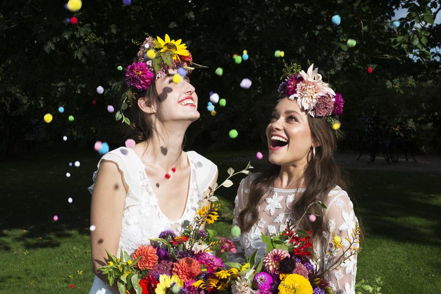 Same sex wedding styling boho chic festival inspiration - image credit Emma Hall Photography (26)