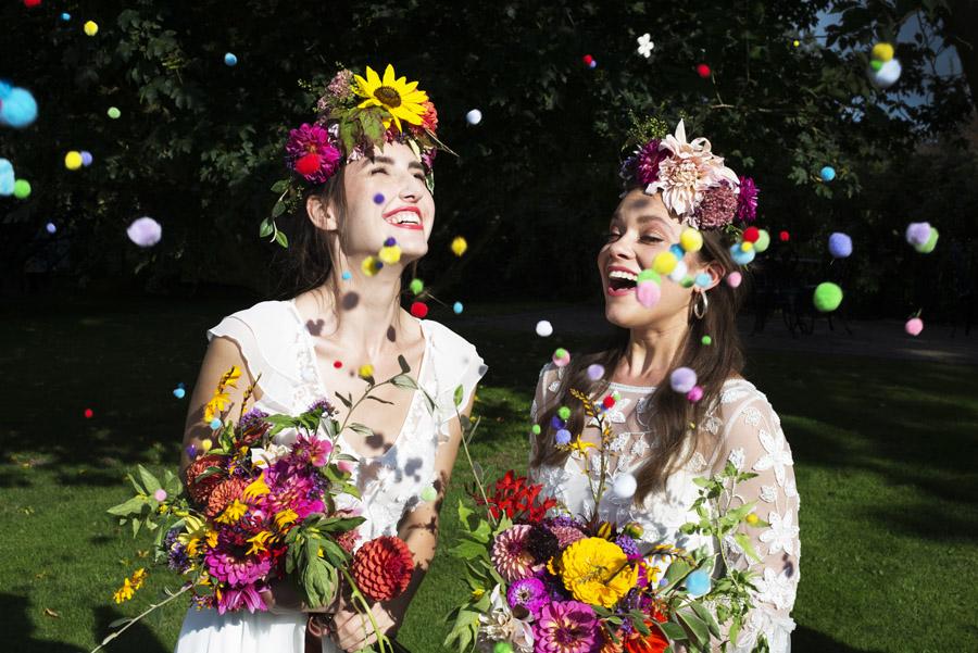 Same sex wedding styling boho chic festival inspiration - image credit Emma Hall Photography (27)