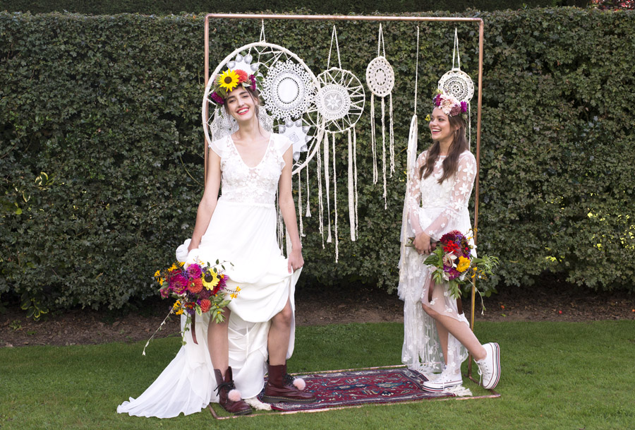 Same sex wedding styling boho chic festival inspiration - image credit Emma Hall Photography (28)