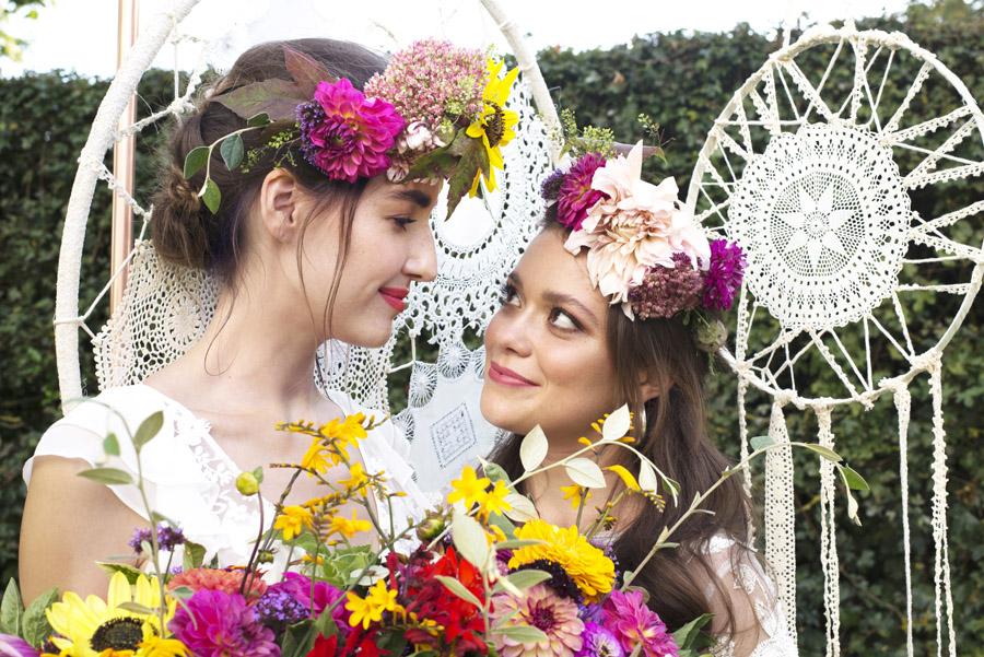 Same sex wedding styling boho chic festival inspiration - image credit Emma Hall Photography (29)