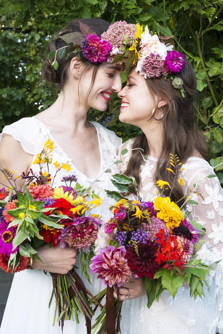 Same sex wedding styling boho chic festival inspiration - image credit Emma Hall Photography (30)