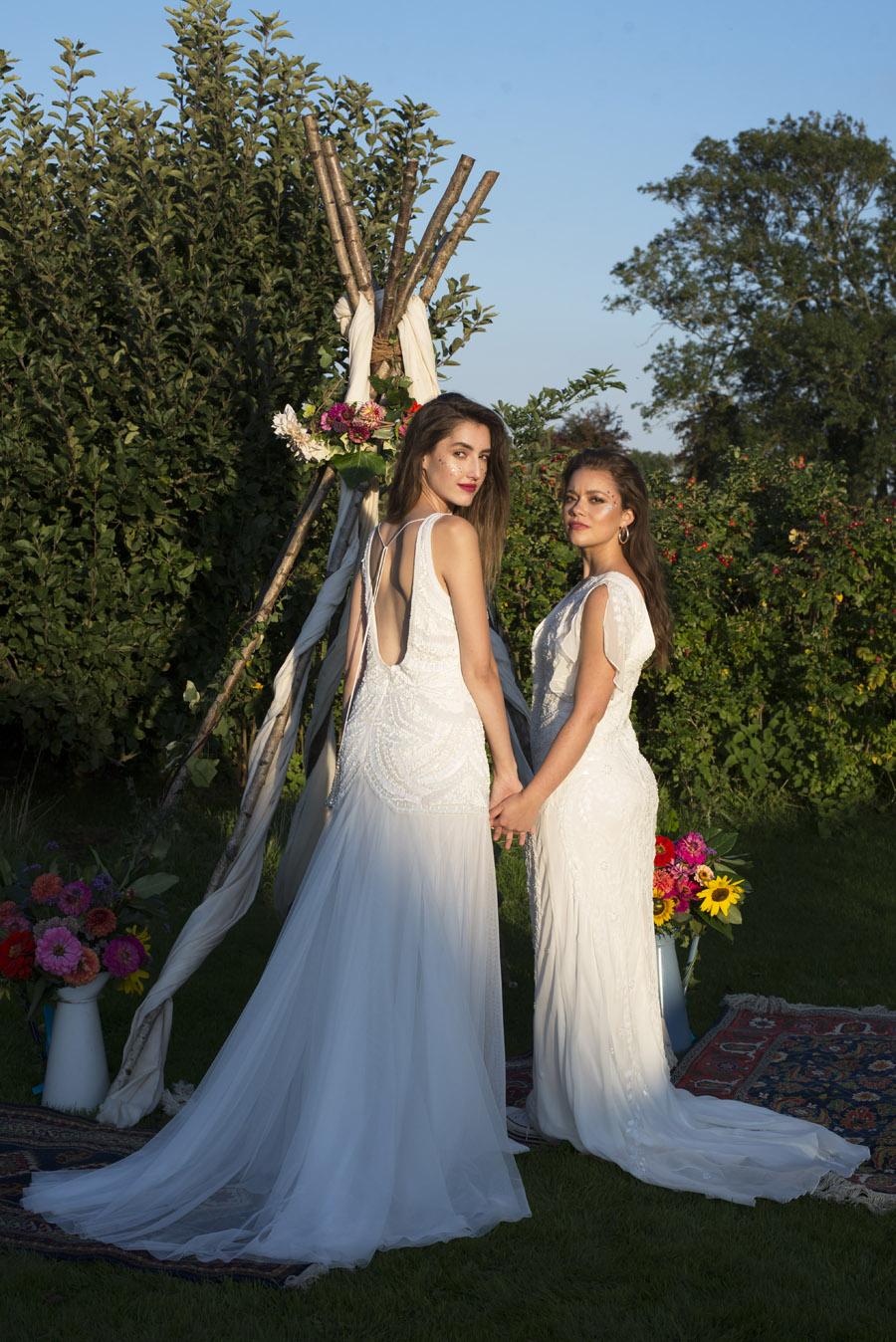 Same sex wedding styling boho chic festival inspiration - image credit Emma Hall Photography (31)